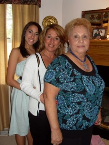 Grandma, Mom and I a few years back.